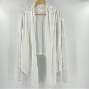 Lululemon white cardigan wrap
